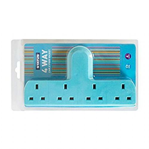 Status 4 Way Cable Free Socket Light Blue